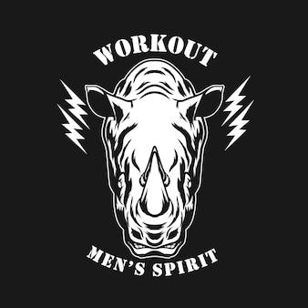 Design de logotipo de treino