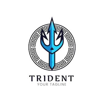 Design de logotipo de tridente antigo