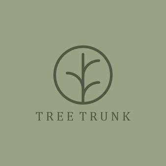 Design de logotipo de tronco de árvore
