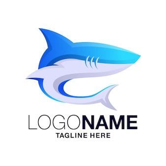 Design de logotipo de tubarão