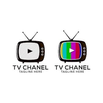 Design de logotipo de tv