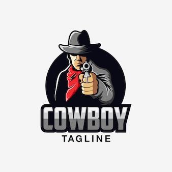 Design de logotipo de vaqueiro