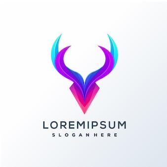 Design de logotipo de veado colorido