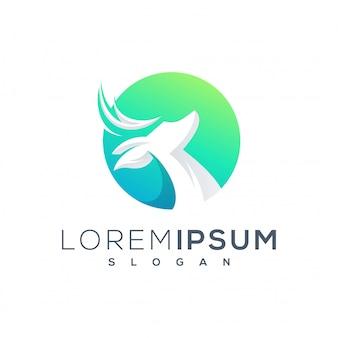 Design de logotipo de veado pronto para uso