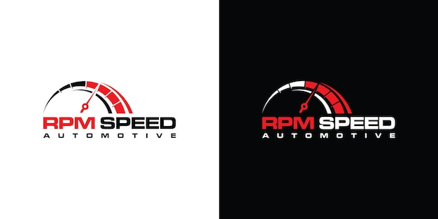 Design de logotipo de velocidade rpm para modelo de empresa automotiva