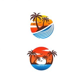Design de logotipo de verão