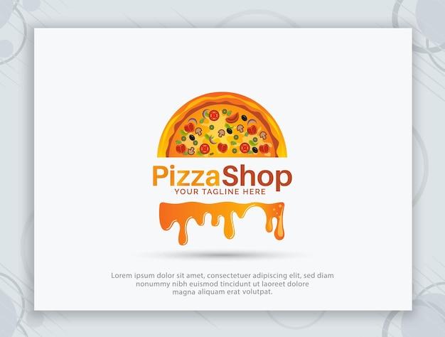 Design de logotipo de vetor de pizzaria