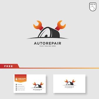 Design de logotipo de vetor de serviço de carro