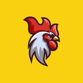Design de logotipo de vetor galo