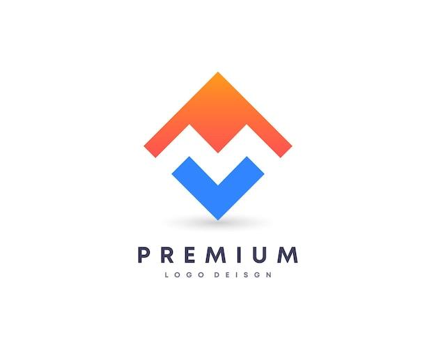 Design de logotipo de vetor letra m inicial atraente colorida propriedade residencial símbolo para sua marca