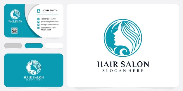 Design de logotipo de vetor para salão de beleza, cabeleireiro, cosmético. ilustração do ícone do logotipo do natural spa