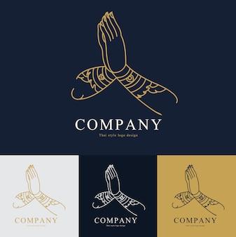 Design de logotipo de vetor tailândia