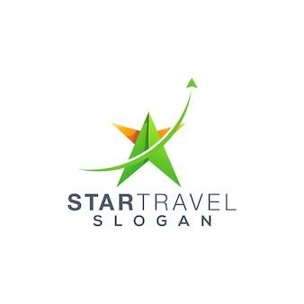 Design de logotipo de viagens estrela