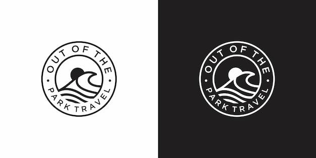 Design de logotipo de viagens para o parque marítimo