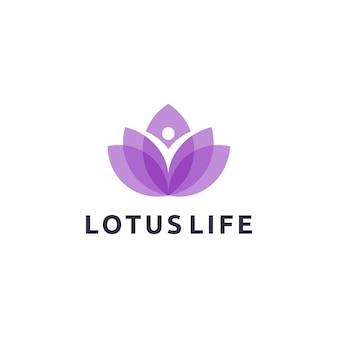 Design de logotipo de vida de lótus