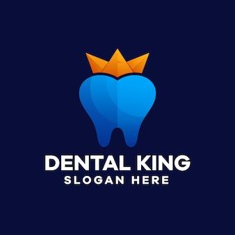 Design de logotipo dental king gradient