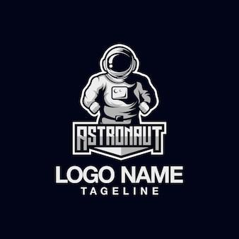 Design de logotipo do astronauta