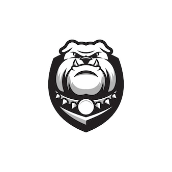 Design de logotipo do buldogue