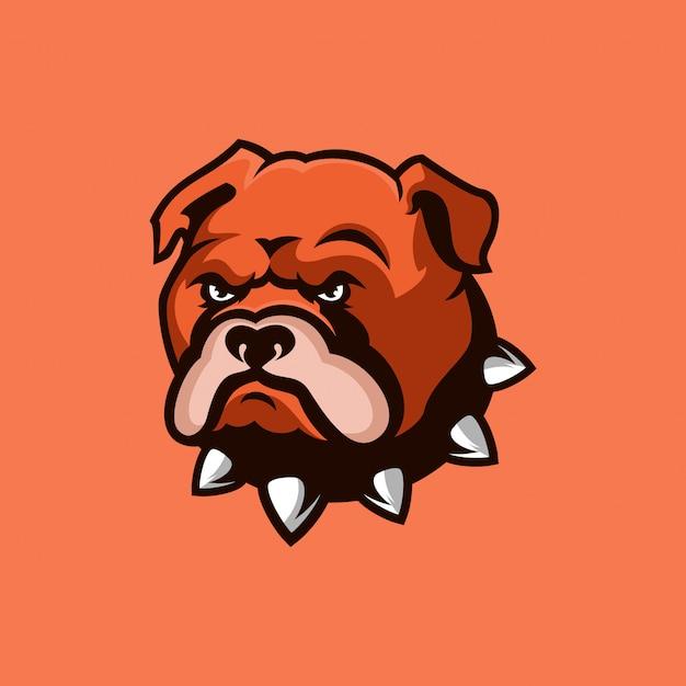 Design de logotipo do buldogue