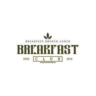 Design de logotipo do café da manhã