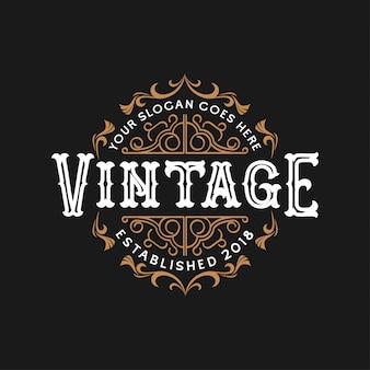 Design de logotipo do casamento do vintage