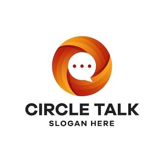 Design de logotipo do círculo talk gradient
