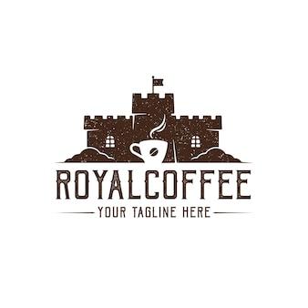 Design de logotipo do coffee castle