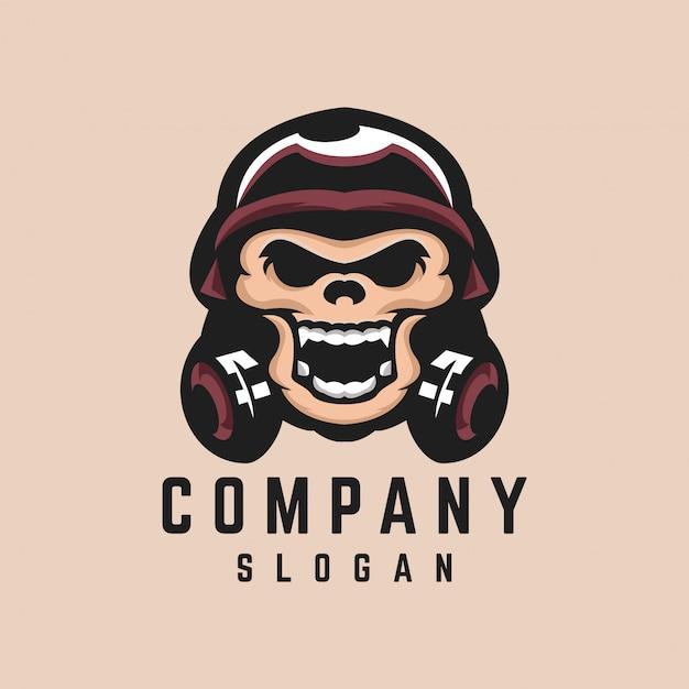 Design de logotipo do crânio