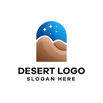 Design de logotipo do desert natural gradient