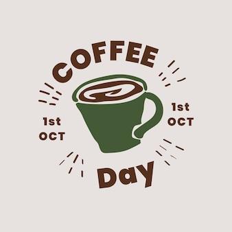Design de logotipo do dia do café Vetor grátis