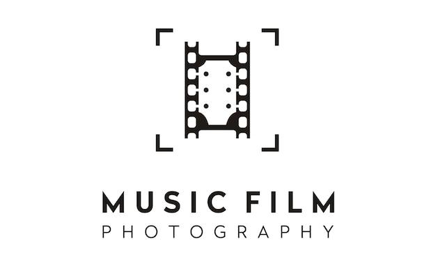 Design de logotipo do filme foto música