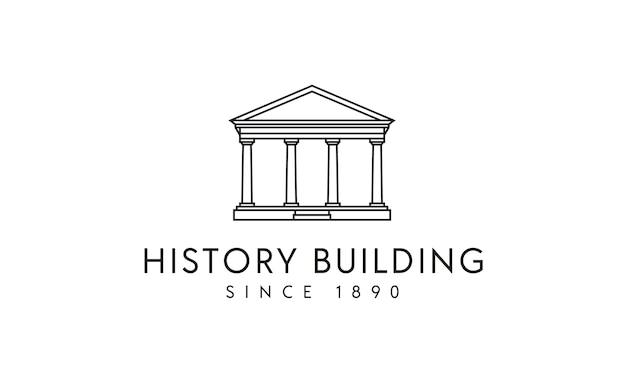 Design de logotipo do governo / colunas edifício histórico