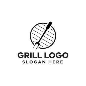 Design de logotipo do grill