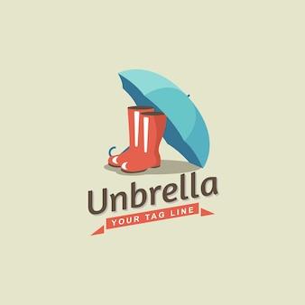Design de logotipo do guarda-chuva