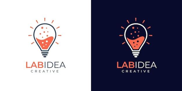 Design de logotipo do laboratório e da idea