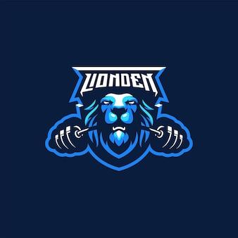 Design de logotipo do lion fitness gym
