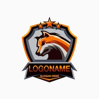 Design de logotipo do lobo