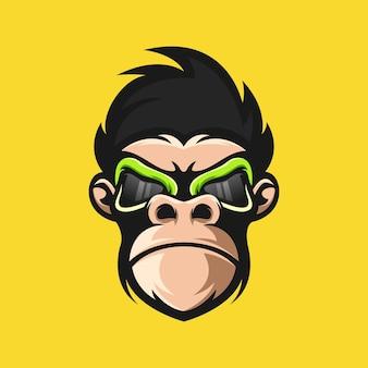 Design de logotipo do macaco