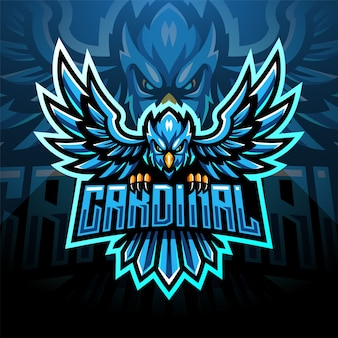 Design de logotipo do mascote cardinal esport