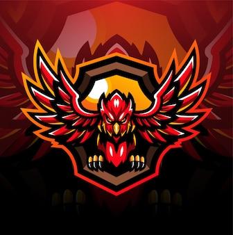 Design de logotipo do mascote cardinal esport