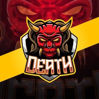 Design de logotipo do mascote do esporte da morte