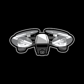 Design de logotipo do mascote drone