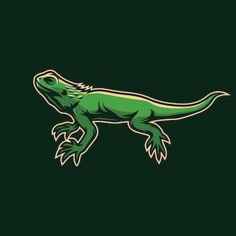 Design de logotipo do mascote lagarto
