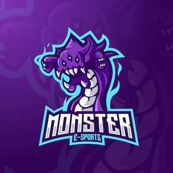 Design de logotipo do mascote monstro