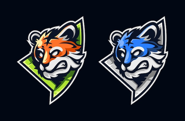 Design de logotipo do mascote tigre esport