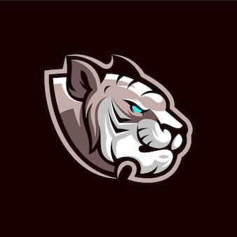 Design de logotipo do mascote tigre