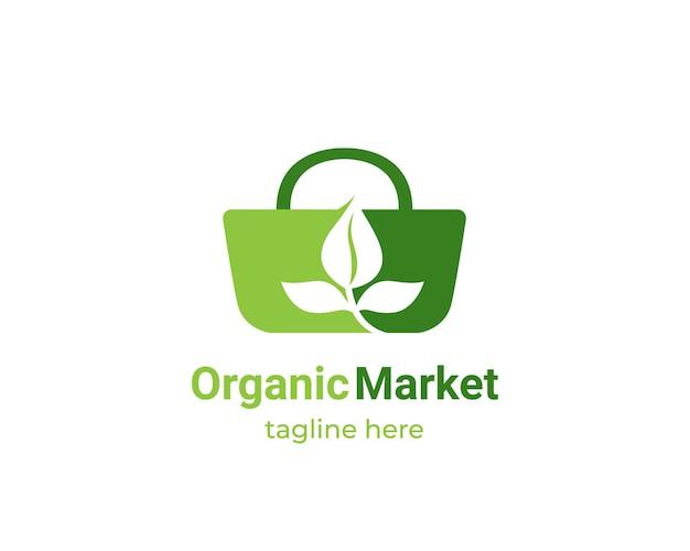 Design de logotipo do mercado orgânico