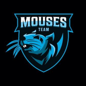 Design de logotipo do mouse para jogos de esporte