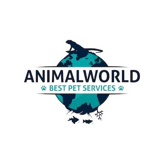 Design de logotipo do mundo animal