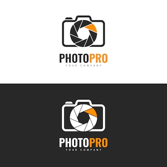 Design de logotipo do photo studio.